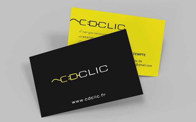Logo et site internet onepage Cdclic