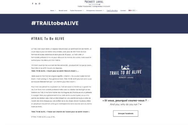 page trail to be alive - avec création du logo