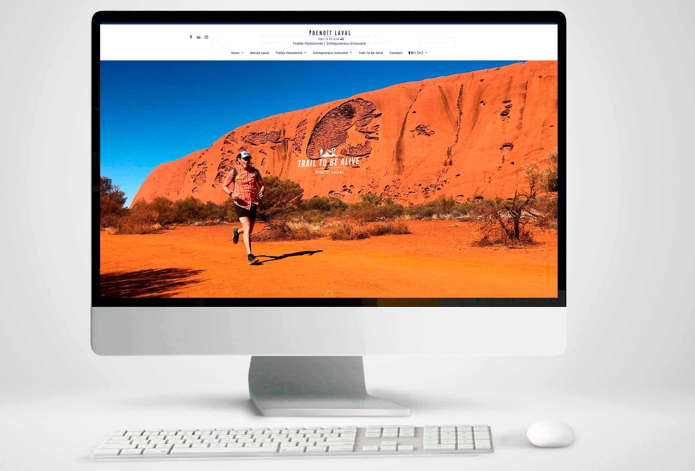 home page site internet de Benoit LAVAL
