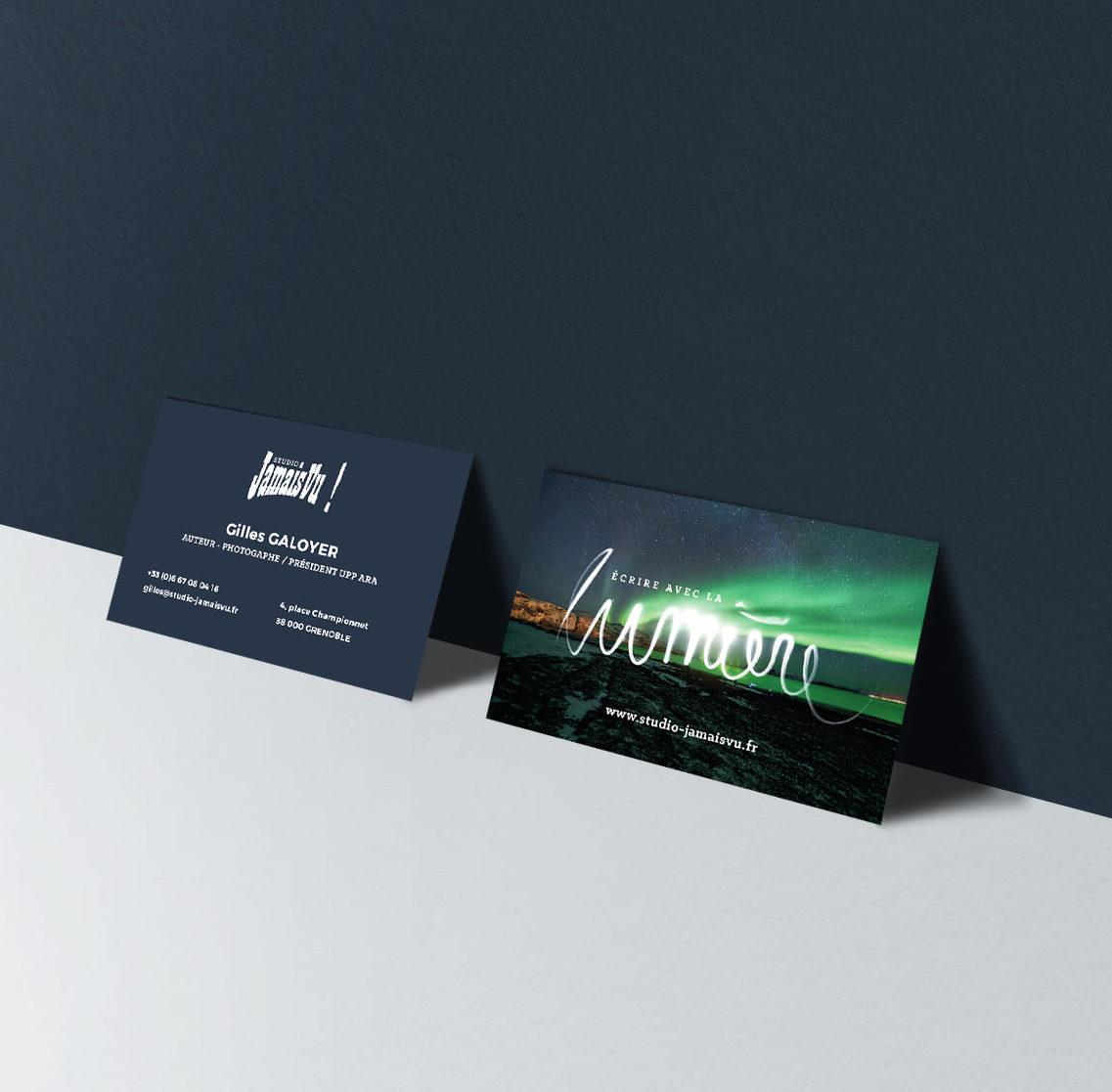 Carte De Visite Et Web Design Studio Jamais Vu