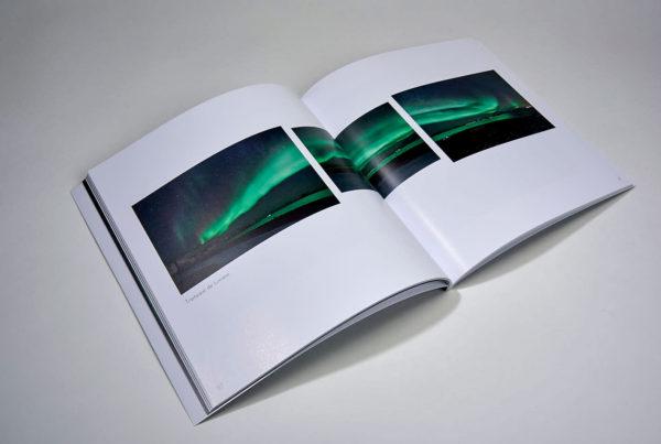 double page intérieure catalogue d'exposition SOLEIL LAPON