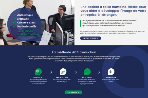Homepage ACS traductio