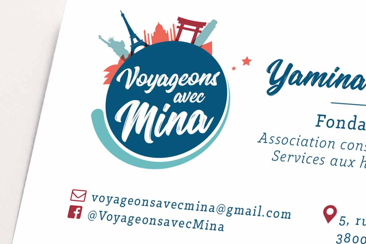 Logo – Photo reportage – Voyageons avec Mina